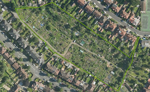 Figure 1: Aerial photo of Birchall Road