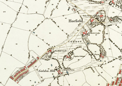 Figure 2 Golden HIll on OS 1st Edition Map