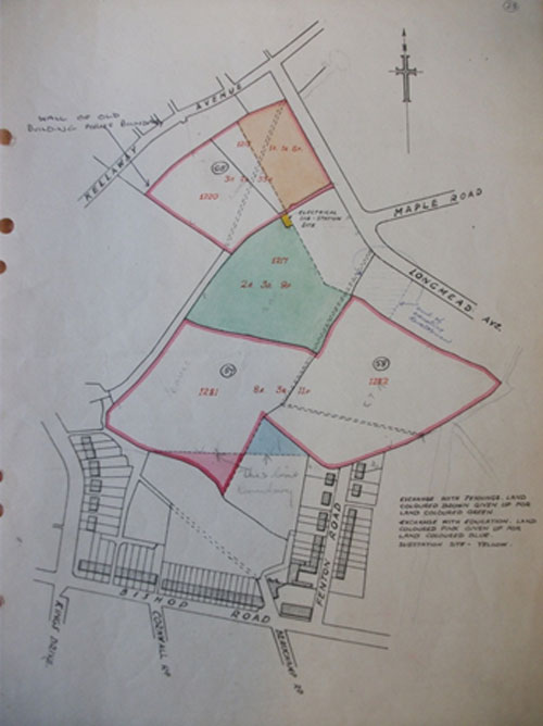 Figure 8 Bristol Council map of Golden Hill allotment site