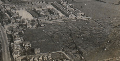 Figure 2: Aerial photo of Graham's Field, early 1900s