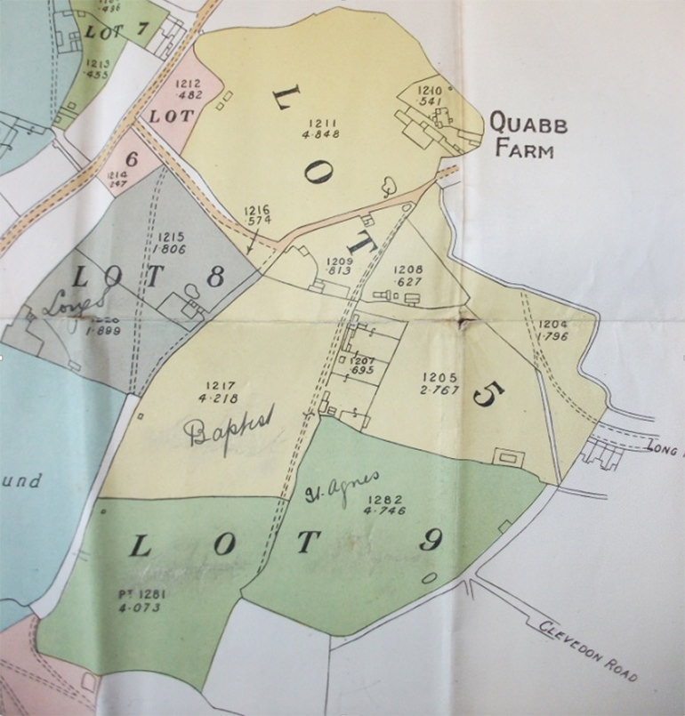 Shadwell Estate Sale Map 1921