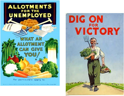 Wartime allotment posters.