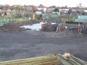 Compost Bins construction on Golden Hill site