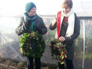 Wreath Making event on allotment