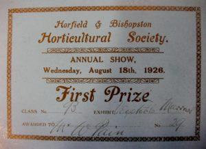 1st prize - Bill Pain 1926