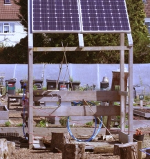 Solar panels at Golden Hill site