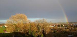 Rainbow over allotments Dec2018
